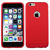 Heartly Double Dip Flip Hard Shell Premium Bumper Back Case Cover For Apple IPhone 6 4.7 Inch - Red Red Red