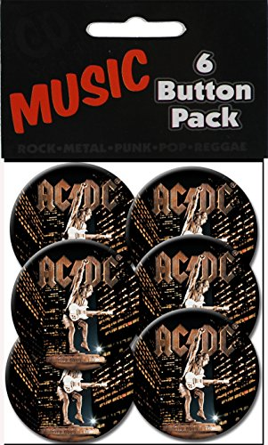 "C&D Visionary AC/DC Stiff Upper Lip 1 1/2"" Button (6-Piece)"