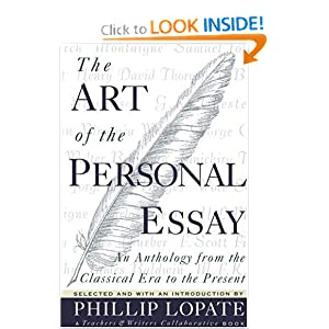 The art of the personal essay edited by phillip lopate