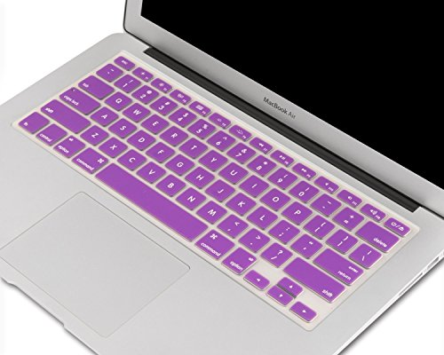 """Heartly Premium Soft Silicone Keyboard Skin Crystal Guard Protector Cover For MacBook 13"""" / 13.3"""" / 15"""" / 17"""" inch Frame Purple"""