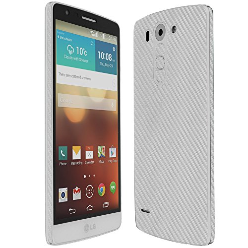 Skinomi® Techskin - Lg G3 Vigor Screen Protector + Silver Carbon Fiber Full Body Skin Protector With Free Lifetime Replacement Warranty / Front & Back Wrap / Premium Hd Clear Film / Ultra High Definition Invisible And Anti-Bubble Crystal Shield - Retail P