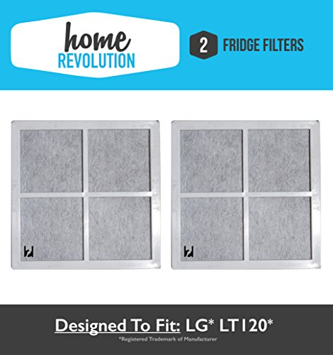 2 LG® LT120F Home Revolution Brand Air Purifying Fridge Filter Replacement Made To Fit LG® LT120F, KENMORE® 9918; Compare to Part # ADQ73334008 & ADQ73214404, 04609918000P