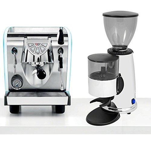 Nuova Simonelli Musica LED LUX Pour Over Espresso Coffe Machine & Macap M2C83 Chrome Doser Grinder