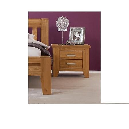 Firstloft 108-0000 Donna Nachtkommode, 60 x 52 x 47 cm, wildeiche natur, gewachst-geölt