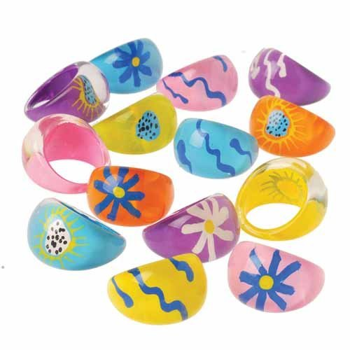 Psychedelic Rings 12 Pack