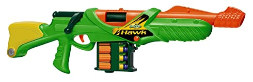Amazon.com : Buzz Bee Toys Hawk Bolt Action Foam Dart Blaster : Foam Battle Toys : Toys & Games