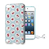 Shabby Chic Florals on Blue Phone Hard Shell Case for Apple iPhone 6 Plus 5S 5C 5 4 iPod & more - Apple iPod Touch 5