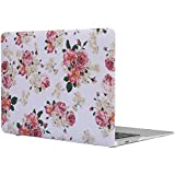 "Topideal Floral Pattern Matte Rubber Coated Hard Shell Case Cover for 13-Inch MacBook Air 13.3"" (Model A1369 / A1466) - Flower"