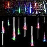 Ecandy 50cm 8 Tube 240 LEDs RGB Multi-color Meteor Shower Rain Lights Waterproof String for Wedding Party Christmas Xmas Decoration Tree