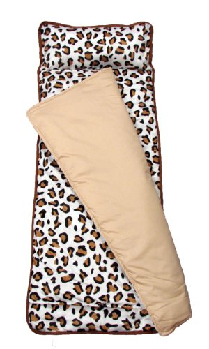 Soho Nap Mat , Classic White And Brown Leopard Print front-751979