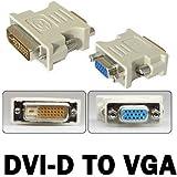 DVI-D 24 +1 25 Pin Stecker auf VGA 15 Pin Buchse Video Konverter