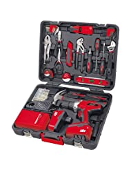184 Pc. Household Tool Kit w 18V Cordless Drill-DT-0202 by Apollo