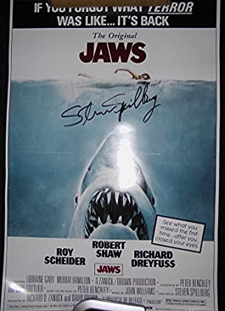 """JAWS Movie Poster 11""""x17"""" Signed Autographed by Steven ..."""