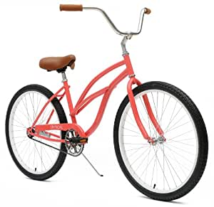 Critical Cycles Women's Beach Cruiser 1-Speed Bike,