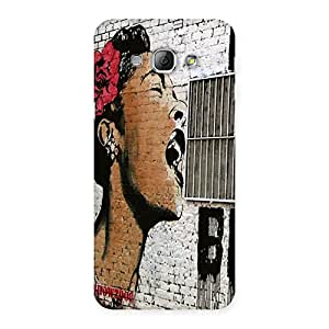 Singing Girl Back Case Cover for Galaxy A8