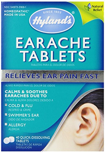 Hyland's Earache Relief Tablets, Natural Relief for Cold & Flu ...