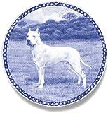 デンマーク製 ドッグ・プレート (犬の絵皿) - IV (ドゴ・アルヘンティーノ )