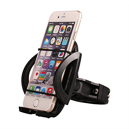 Comsun Universal Bike Phone Mount Bicycle Holder Cradle for Cell Phone for iphone for Samsung Galaxy 360 Degree Rotation Black (Stainless Steel Trailer Jack compare prices)
