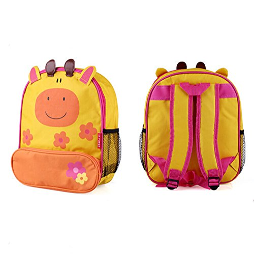 KAKA(TM) Lovely Animal Kids Children Nursery Canvas Schoolbag Hand Bag Outdoor Insulation Meal Package Backpack (Giraffe) (Giraffe Garment Bag compare prices)