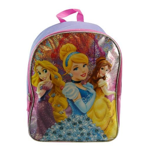 "Princess 16"" Large School Backpack Kids' Cargo Bag PVC Print - 1"