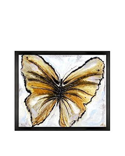Susan Art Butterfly Framed Canvas Print