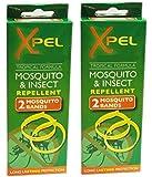 2 X 2 x Adult Xpel Tropical Formula Mosquito/Insect repellent bands (DEET FREE)