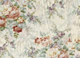 P162101 8 Photo Wallpaper Fleece Mural Flowers in Colourful Embroidery Fabric Optics
