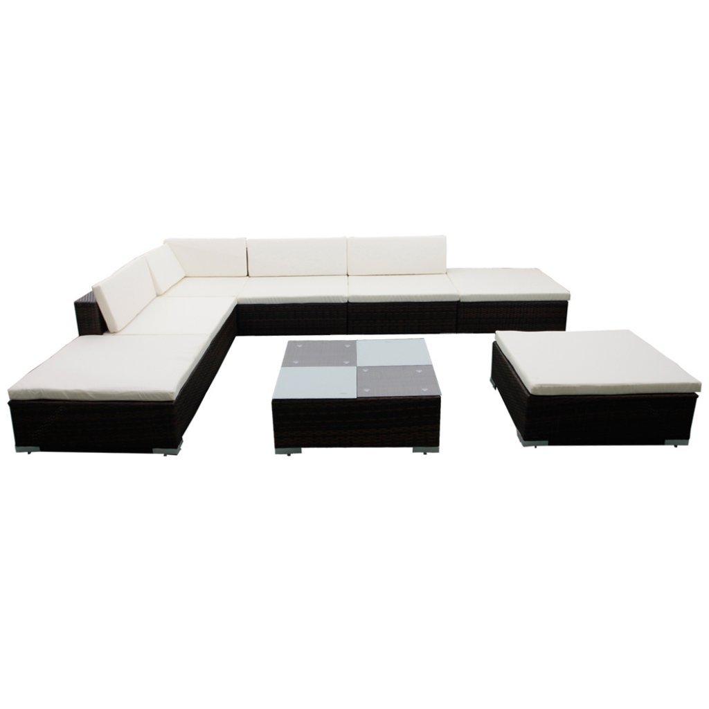 vidaXL Gartenmöbel Poly Rattan Lounge Set Möbel