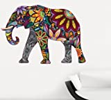 Abstract Elephant Full Colour Wall Sticker Wall Decal Wall Art Vinyl Wall Mural - Regular Size (Other Sizes Available)