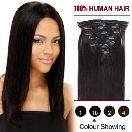 "HairExtensionSale®16""-24"" Remy (Remi) Human Hair Clip in Extensions All Colors for Your Choose 7 Pieces(pcs) [Set Weight:70-80 Grams]"