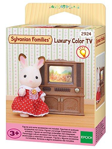 Sylvanian Families - 2924 - Poupées Et Accessoires - Meuble Télévision Couleur - Sylvanian
