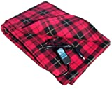 "Trillium Worldwide Car Cozy 2 12-Volt Heated Travel Blanket, (Red Plaid, 58"" x 42"")"