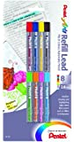 Pentel Arts 8 Colour Refill Lead, Assorted Colors, 8 Pack (CH2BP8M)