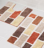 Brick Bath & Pedestal Mats