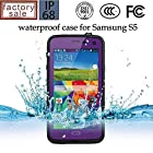 Queens@ Waterproof Water Resistant Case Cover for Samsung Galaxy S5 Sv V I9600 Phone,dustproof Snowproof Shockproof Hard Armor Protective Cover Case for Samsung Galaxy S5 Sv V I9600 ( 0-samsung S5 Waterproof Puple)