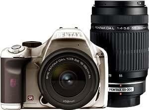 PENTAX デジタル一眼レフカメラ K-x ダブルズームキット シルバー/ブラウン 099