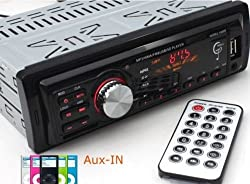 See Car Radio 1 DIN in Dash 12v Sd/usb Input Fm Stereo Mp3 Player Receiver Remote! Details