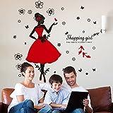 Japace-Danseuse-Fille-Impermable-Stickers-Muraux-Art-Dcalcomanie-pour-Chambre-Bureau-Dortoir-Magasin