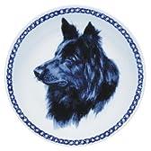 デンマーク製 ドッグ・プレート (犬の絵皿) - V (ベルジアン・シェパード・ドッグ・グローネンダール 4)