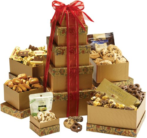 Broadway Basketeers Kosher Gourmet Gift Tower Deluxe