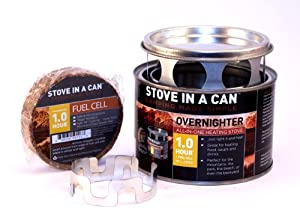 Stove In A Can Overnighter Compact Lightweight Outdoor Camp / Cooking Kit Perfect For Camping Backpacking And Emergency Kits