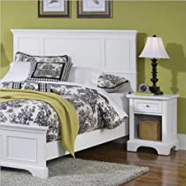 Big Sale Home Styles 5530-5011 Naples Queen Headboard and Nightstand, White Finish