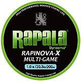 Rapala(ラパラ) ライン ラピノヴァX マルチゲーム 1.0号 20.8lb 200m ライムグリーン  RLX200M