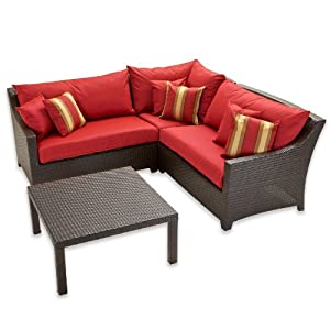 Rst Outdoor Cantina Corner Sectional With Coffee Table Set Patio Furniture 4 Piece