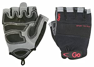 Go Fit Mens Weightlifting Gloves - Black, Large