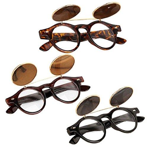 Anywa-Steampunk-Goth-Goggles-Glasses-Retro-Flip-Up-Round-Sunglasses-Vintage