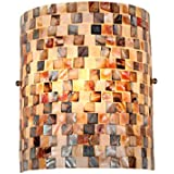 Chloe Lighting CH3CD28BC08-WS1 Shelley Mosaic 1-Light Wall Sconce with 8.3-Inch Width