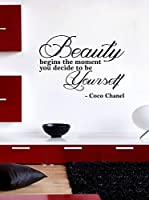Ambiance-sticker Vinilo Decorativo Coco Chanel Beauty