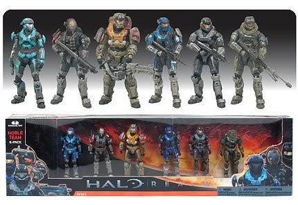 Halo Reach Noble Team Action Figure Set (includes Carter, Kat, Jun, Emile, Jorge & Noble Six)