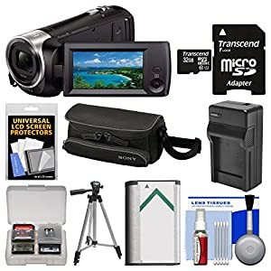 Sony Handycam HDR-CX405 1080p HD Video Camera Camcorder with 32GB Card + Case + Battery & Charger + Tripod + Kit